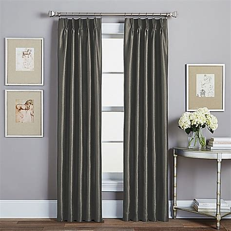 curtains 95 inches buy spellbound pinch pleat 95 inch rod pocket lined window