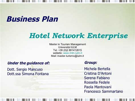 business plan template for hotel business plan quot new hotel enterprise quot