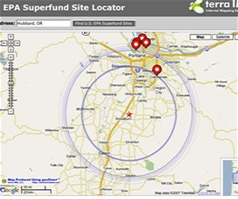 superfund site map best new mashups toxic waste and crime programmableweb