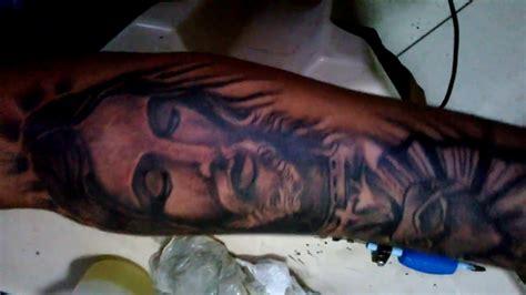 tattoo de jesus cristo no braço tatuagem realista e 3d tatuagem jesus cristo giltatoo s a