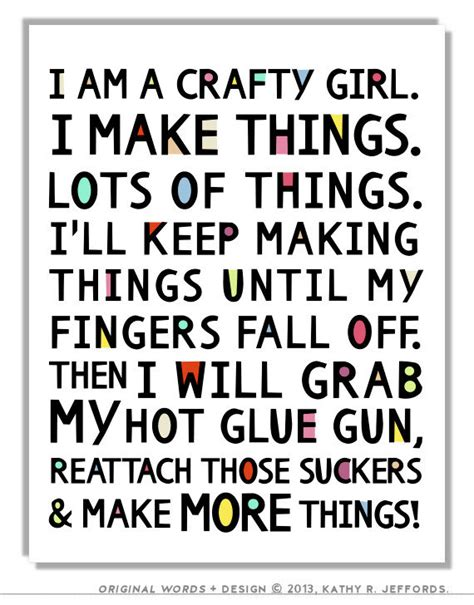 crafty things to make for your bedroom crafty girl typographic print craft room by thedreamygiraffe