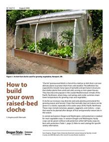 how to build your own raised bed cloche garden for