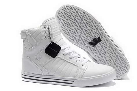 best all white sneakers skytop high top mens skate shoes all white shoes the supra