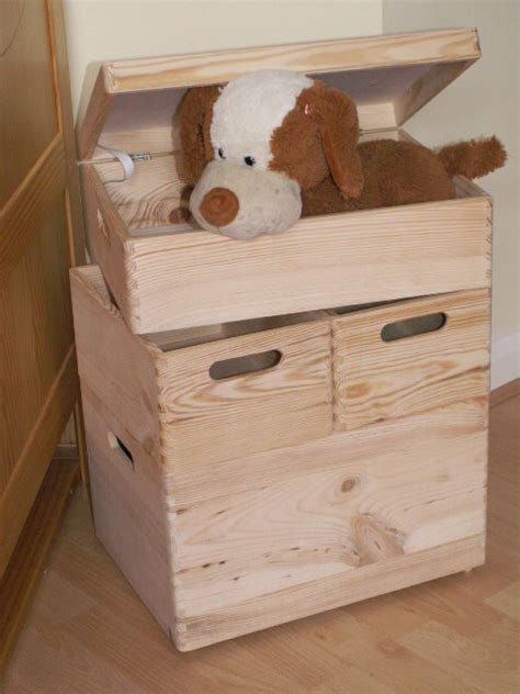 large new wooden storage box diy crates toy boxes set kids bedroom shoes box ebay