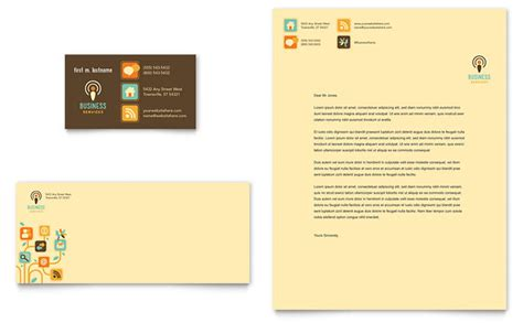 business cards and letterhead business services business card letterhead template design