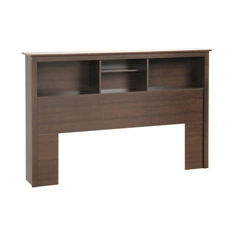 Beds With Headboard Storage Shop Prepac Furniture Espresso Platform Storage Headboard At Lowes