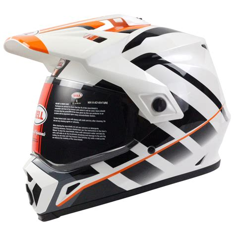 new motocross helmets bell new 2017 mx 9 raid motorcycle orange white adventure