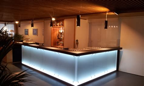 banconi bar illuminati foto nuovo bancone bar sala colazione hotel di nicola