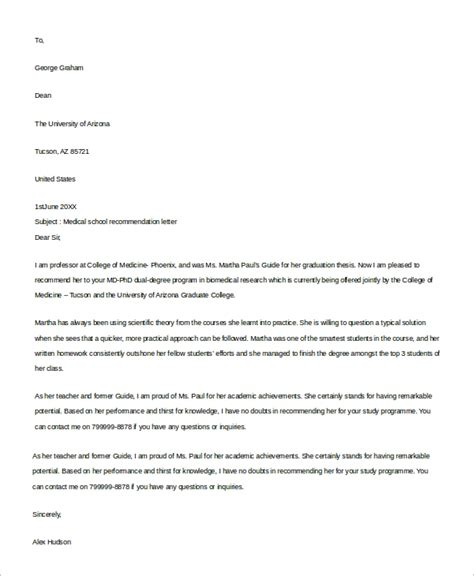 recommendation letter samples ms word
