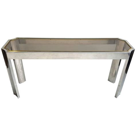 elegant sofa tables elegant aluminium brass and glass console or sofa table