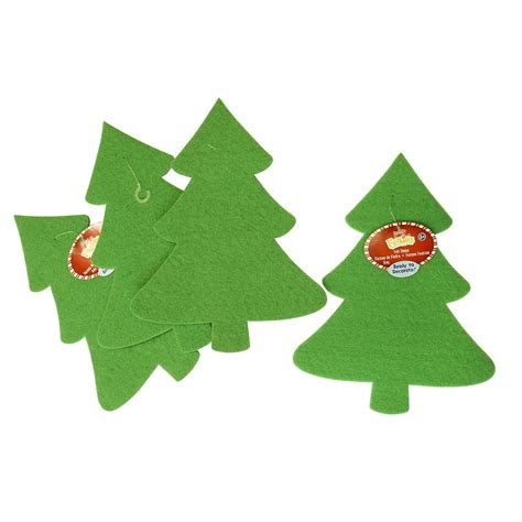 large felt christmas trees 6 pack