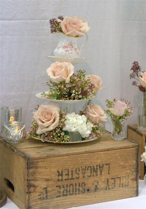 Vintage crate wedding decor vintage cup & saucer wedding