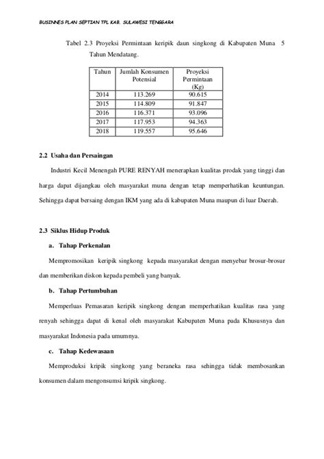 Harga Keripik Singkong Per Kilo by Businnes Plan Kripik Singkong