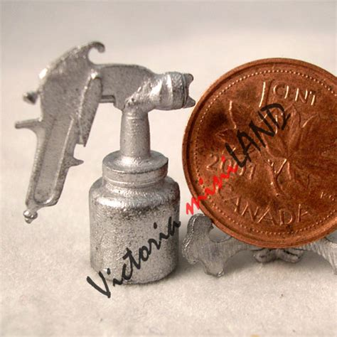 Do It Yourself Miniature spray gun 1 quot h unfinished diy metal miniature for dollhouse do it yourself