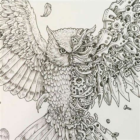 mechanical owl tattoo 1000 ideas about steunk sleeve on