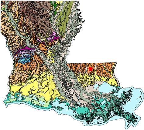 louisiana geologic map figure 1