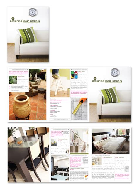 interior design home builder brochure template