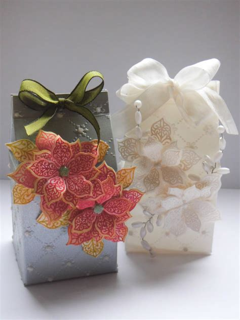 christmas table pointsettia gift box part 2