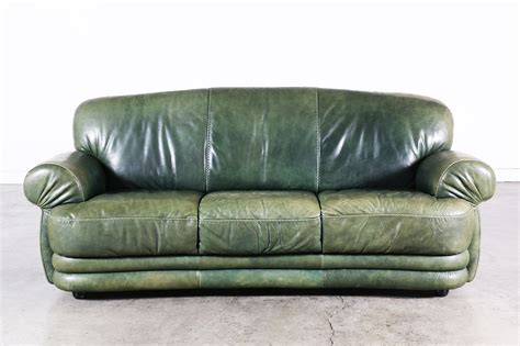vintage green leather sofa vintage supply store