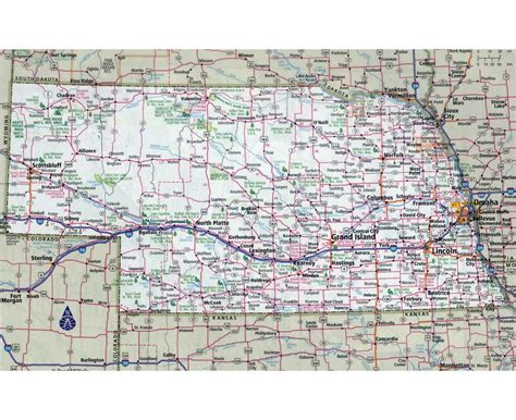 nebraska in usa map maps of nebraska state collection of detailed maps of