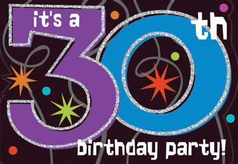 Thirty Birthday Decorations by The Continues 30th Birthday Invitations 8ct