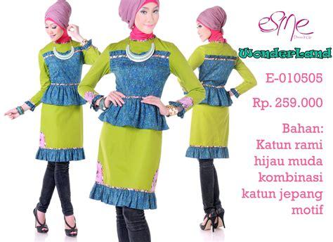 Tunik Katun Rami Keyla Jumbo esme 010505 baju muslim gamis modern