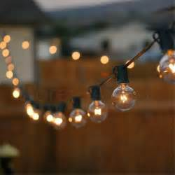 Patio Light Bulbs Patio Lights G40 Globe String Light Warm White 25clear Vintage Bulbs 25ft