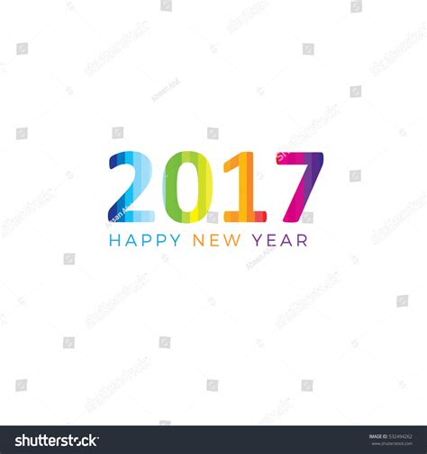 happy new year text vector happy new year 2017 text design stock vector 532494262