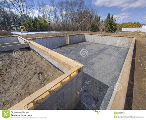 concrete basement construction new house foundation construction stock photo image 29902210