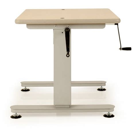 adjustable sewing table height adjustable tables with side crank handle sewing