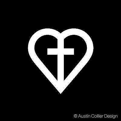 christian cross decal ebay