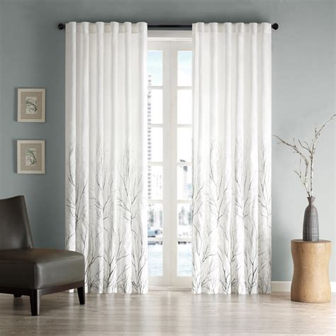 overstock curtain panels madison park eliza faux silk curtain panel contemporary