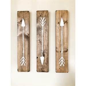 rustic white wooden arrows 3 set rustic decor