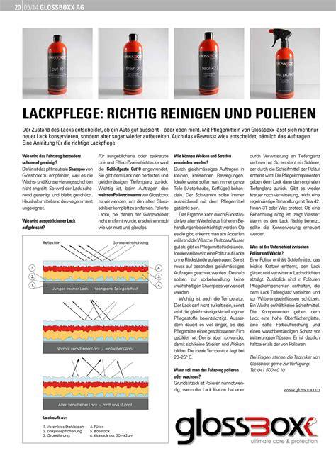 Glas Polieren Schweiz by Lackpflege