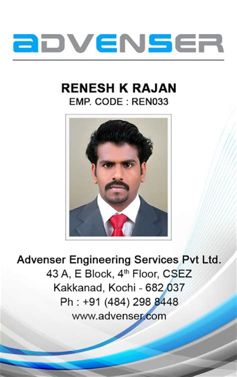 id card design for mac renesh k r freelance web designer cochin kerala india