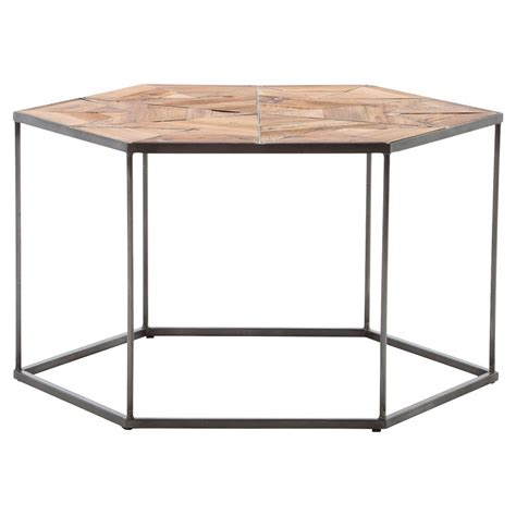 industrial style end tables bronzie iron hexagon industrial style side end table