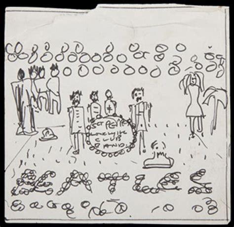 sketch album song lennon s original sgt pepper album cover sketch set