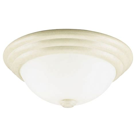 Leaf Light Fixture Westinghouse 2 Light Ceiling Fixture Bisque Leaf Interior Flush Mount With Faux Marbleized Glass