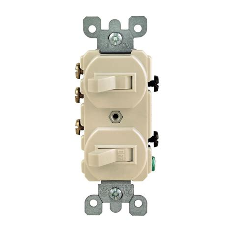 leviton  amp   double toggle switch ivory  iks  home depot