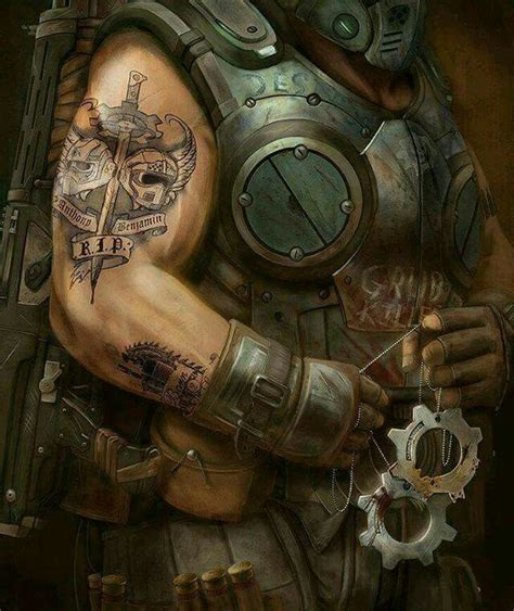 clayton carmine tattoo 25 best ideas about gears of war on gears of