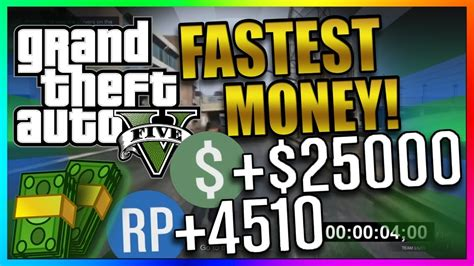 Gta 5 Online Fastest Way To Make Money - gta 5 online top 3 best paying missions fastest solo