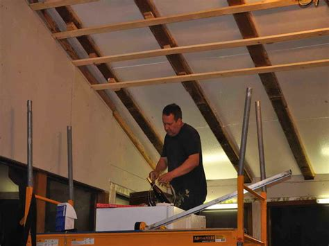 roofing install wood ceiling planks step how to install
