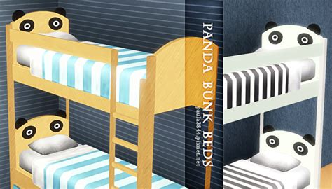 4 bunk bed my sims 3 panda bunk beds by pauleanr