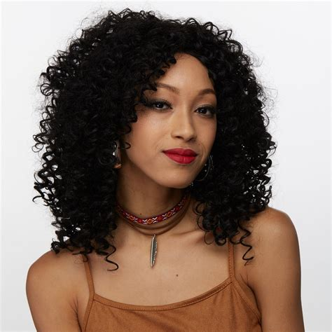black men s medium braided wigs side bang medium afro curly synthetic wig in black