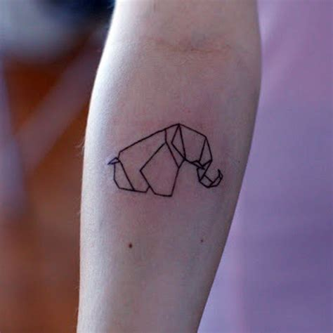 tattoo elephant geometric geometric elephant graphics pinterest