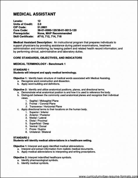 medical office assistant resume objective free sles