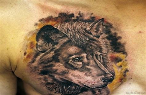 tattoo on side of breast 50 magnificent wolf tattoos for chest