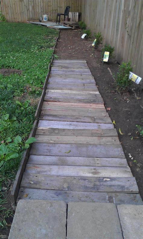 pallet pathway incomplete ft wide landscape barrier