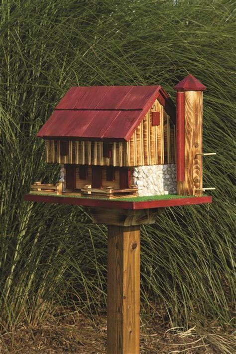 Bird Feeder Barn Amish Barn Garden Bird Feeder With Silo