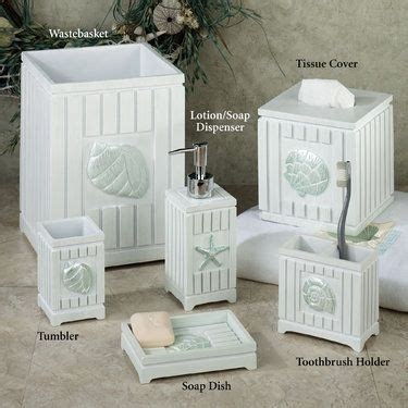 bathroom decor with seashells seaside seashell coastal bath accessories soaps